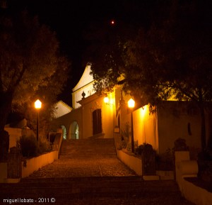 Escadaria do Convento - foto tirada à noite